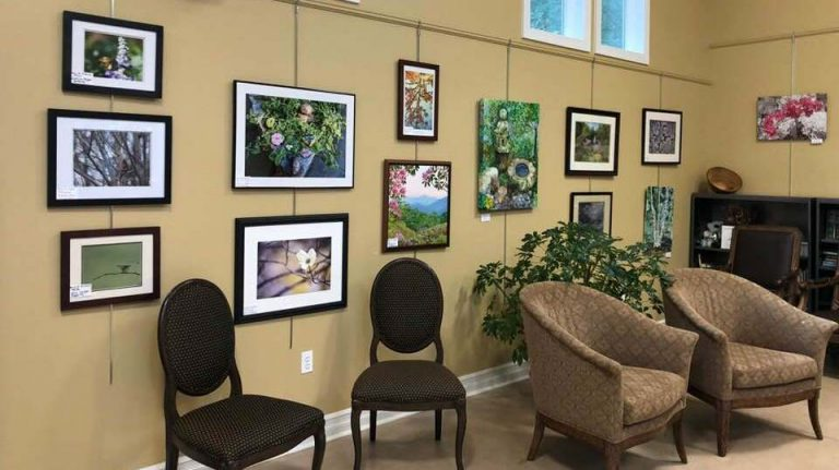 Art and photography exhibit at the 2018 Festival of Friends.