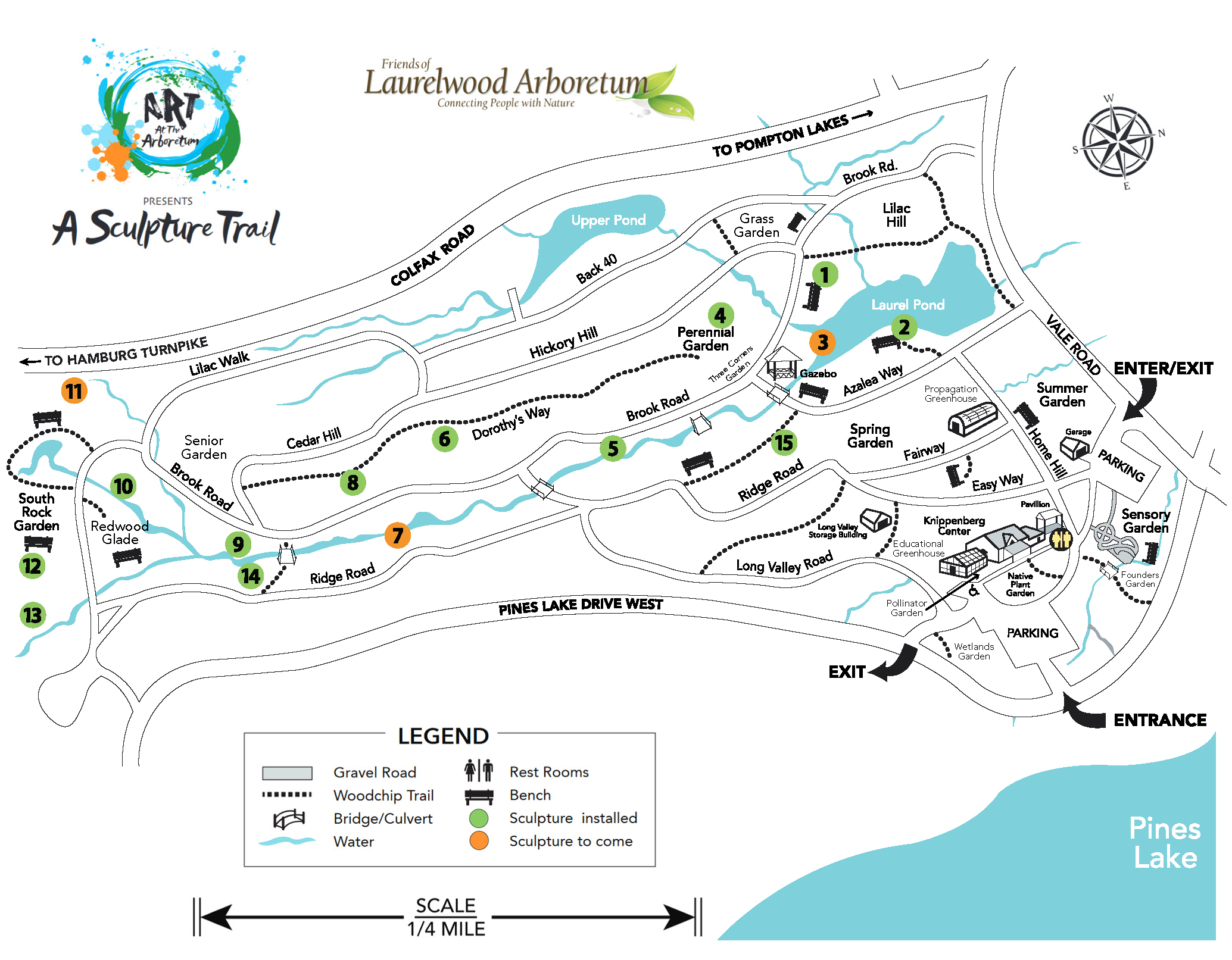 Sculpture Trail Map with hotspots