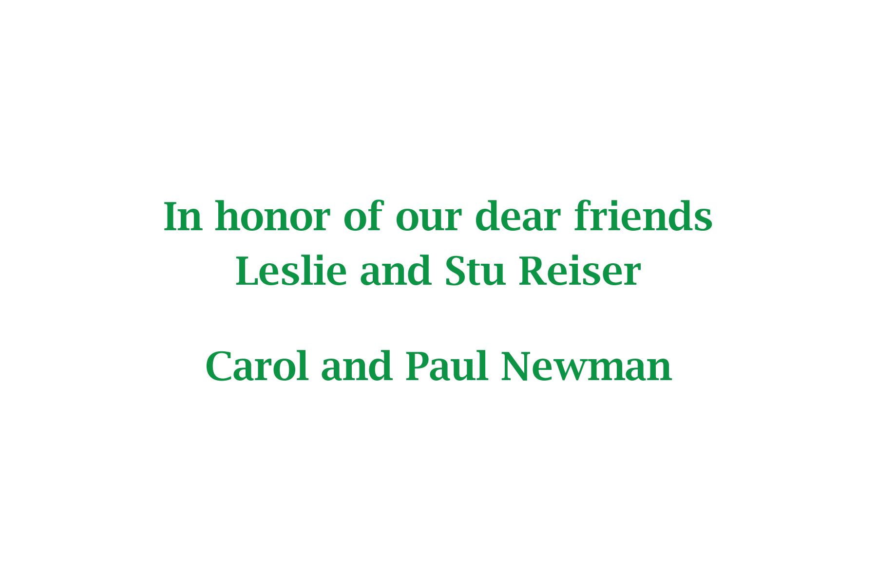 Carol & Paul Newman